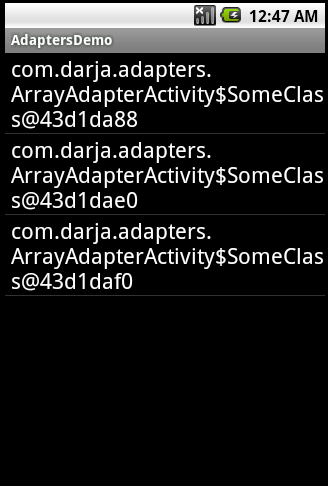 ArrayAdapter<SomeClass>